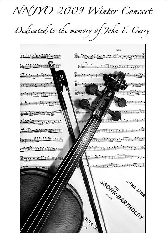 NNJYO Winter Concert Program Cover - Lifestyle  Culture Photos