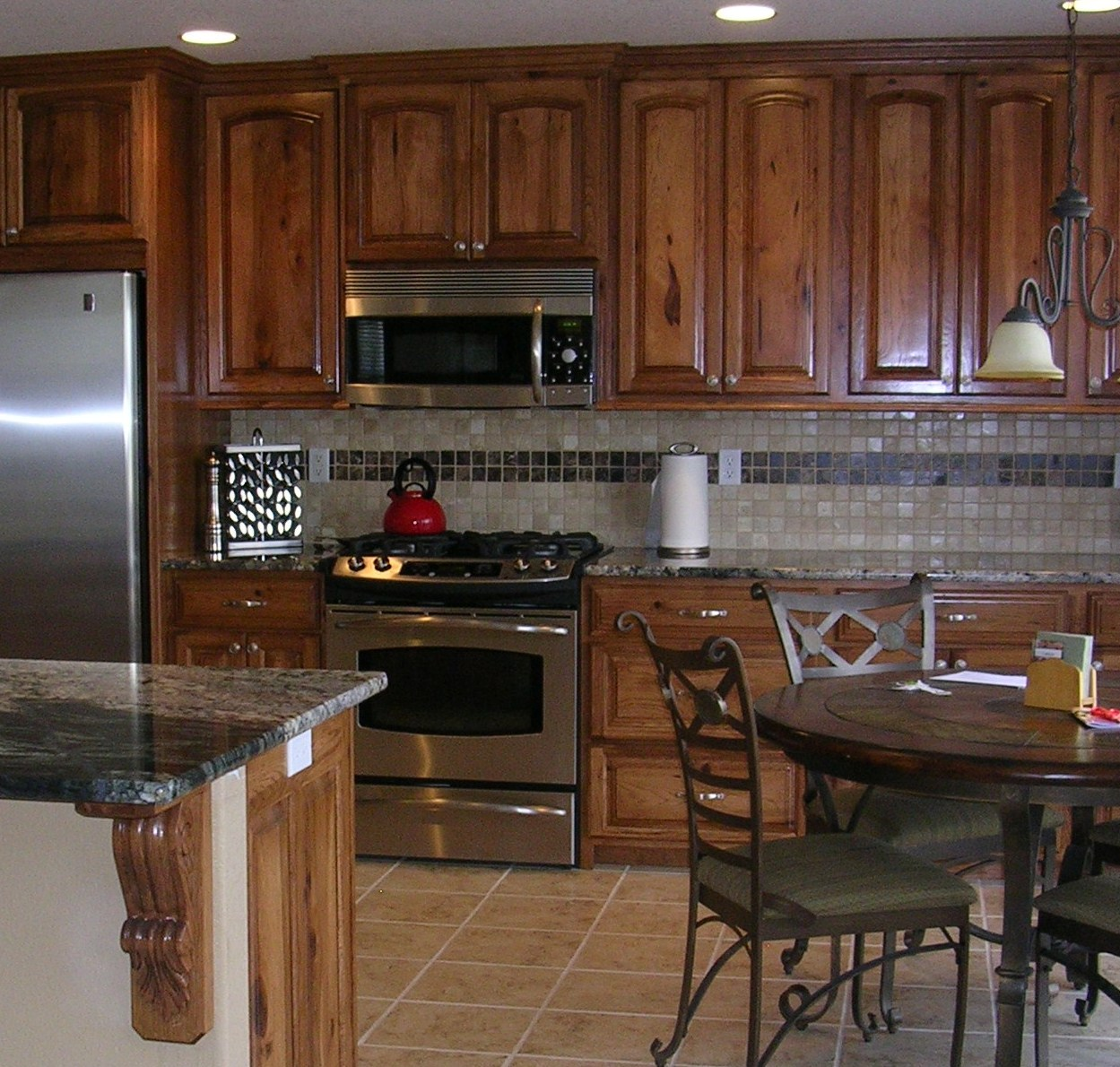 Denver Hickory Kitchen Cabinets Knotty Hickory Amish Cabinets Of Denver