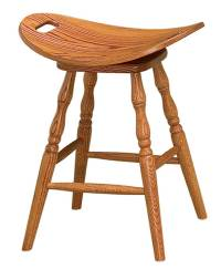 Saddle Bar Stool - Amish Direct Furniture