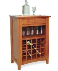 Noble Wine Cabinet - Amish Direct Furniture