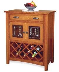 Regal Wine Cabinet - Amish Direct Furniture