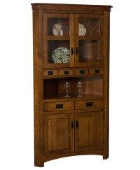 Cape Cod Corner Curio Cabinet - Amish Direct Furniture
