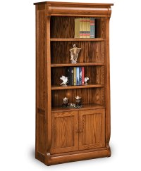 Old Classic Sleigh Bookcase with Doors - Amish Direct ...