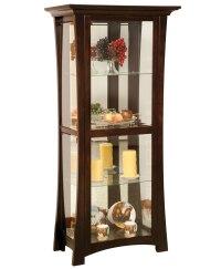 Sheridon 4-Shelf Curio Cabinet - Amish Direct Furniture