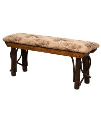 Solid Rustic Hickory Bench - Amish Direct Furniture