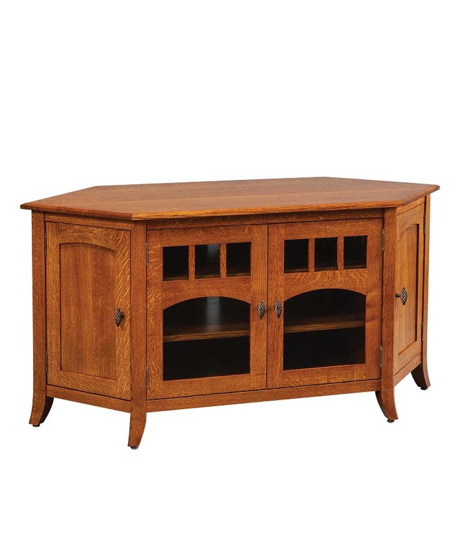 Old World Style #43 Corner TV Stand