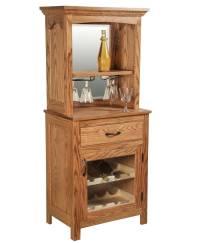 Solid Oak Wine Rack - Amish Direct Furniture