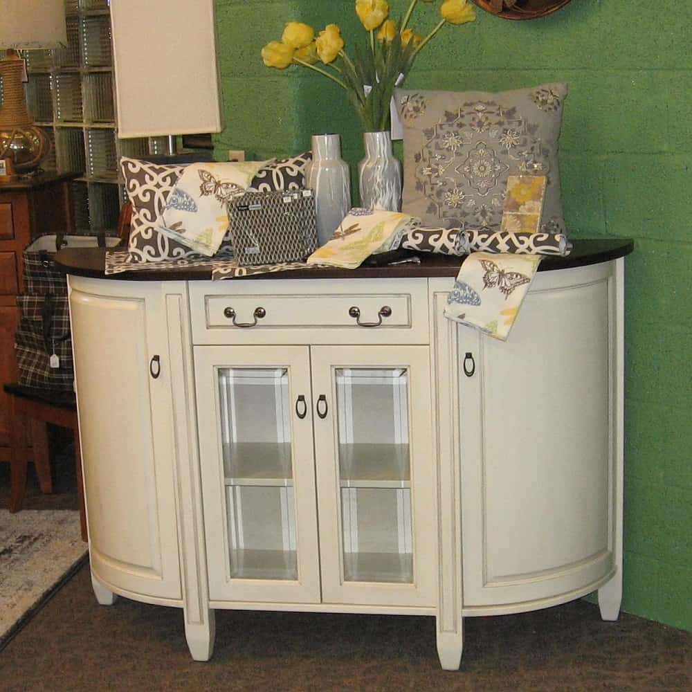 Bar Top Tables Adrian 4 Door, 1 Drawer Buffet With A Two Tone Finish