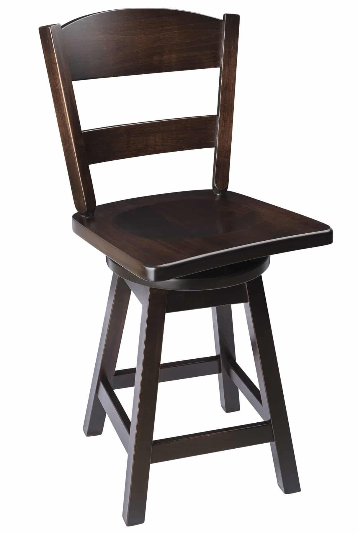 Classic Back Swivel Bar Stool In Maple Wood The Amish Furniture Company