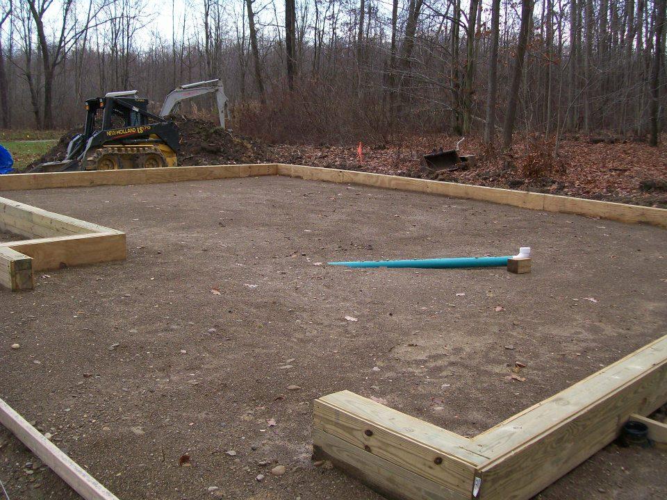 Site Prep Drain Installation Custom Pole Barn Garage