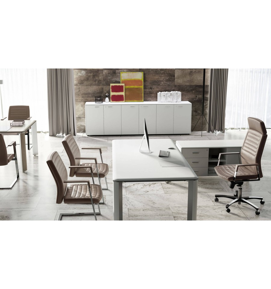 Bureau De Direction Design Blanc Bureau De Direction Iulio Finition Bois Blanc