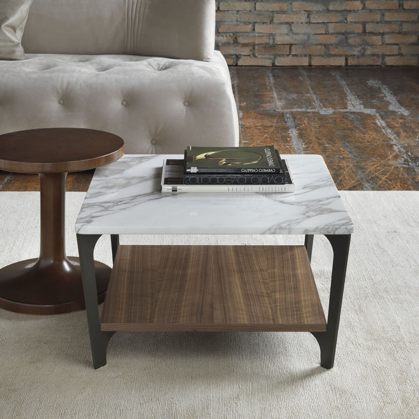 Couchtisch Oval Gold Soho Square Marble & Wood Coffee Table