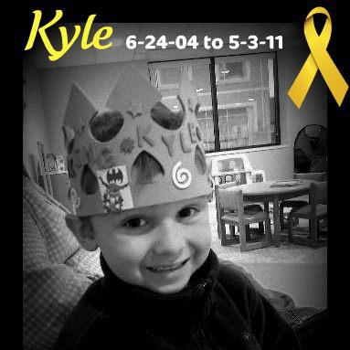 Our sweet friend Kyle Williams left this world shortly before our own Zack. He died of neuroblastoma