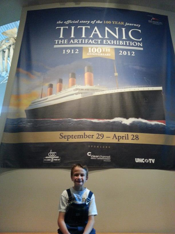 Visit to Titanic Exhibit at NC Museum of Natural Sciences