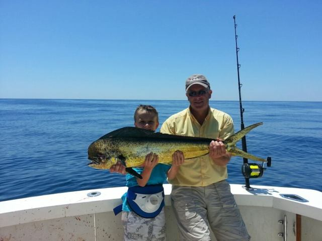 First Mahi-Mahi he caught 40 miles offshore 6/15/2013
