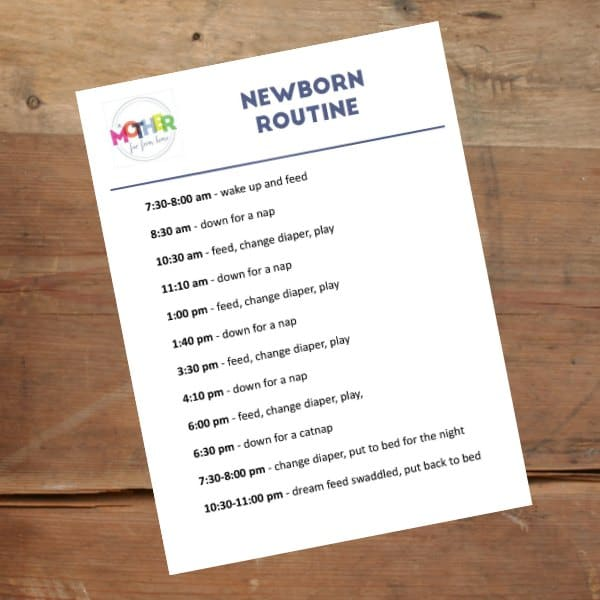 A Newborn Routine That Works Every Time - infant daily schedule