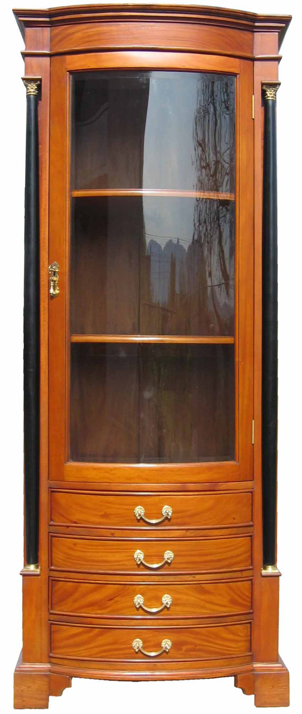 Regal Tisch Kombination Vitrine Biedermeier Antik | Möbel Kirsche Massiv