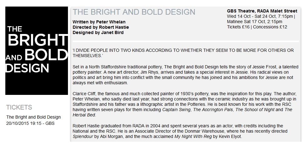 2015-10-20 The Bright And Bold Design, London A Movie-TheatreGoer