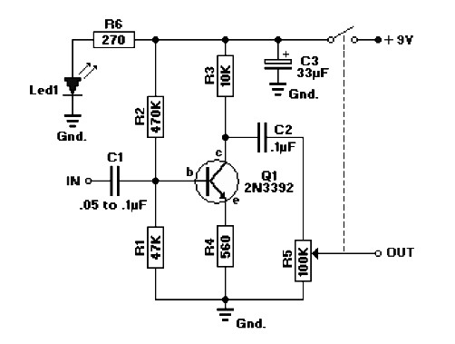 single chip audio preamplifier lm 358