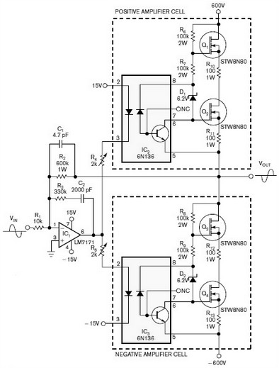 frequency response amplifier circuit design