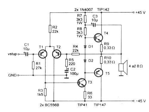 Simple 100 w power amp