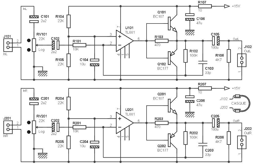 headphone amplifier circuit design