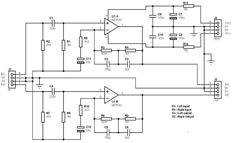 electret microphone pre amp based ne5532