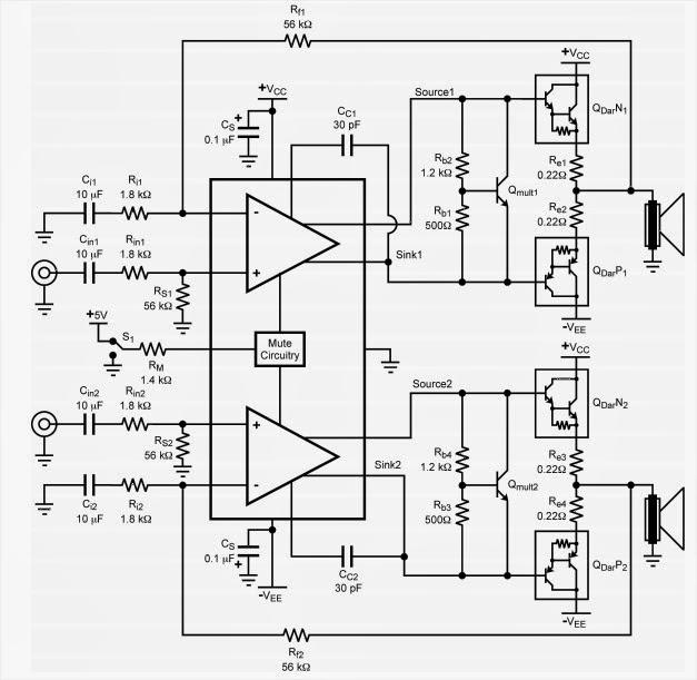 lm4702 power amplifier circuit schematic