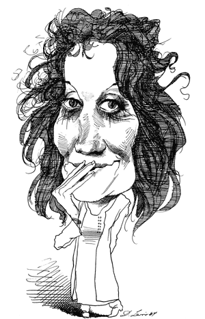 Germaine Greer, by David Levine