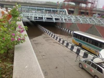 The Moolchand Underpass went Underwater