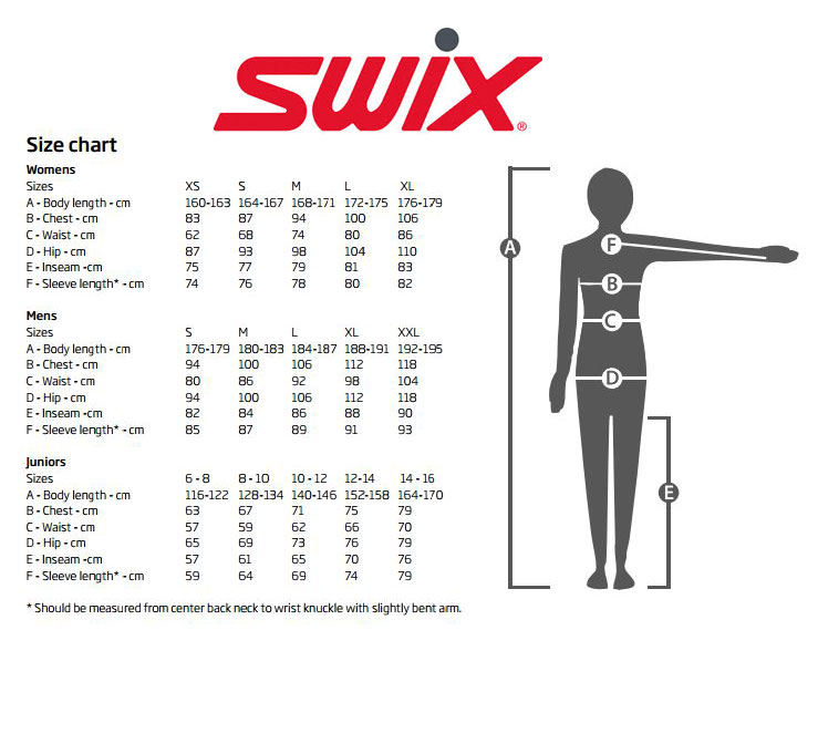 Cross Country Skis Sizing Chart amulette