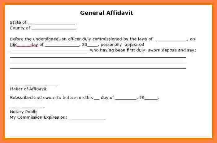 Free General Affidavit Form Download amulette