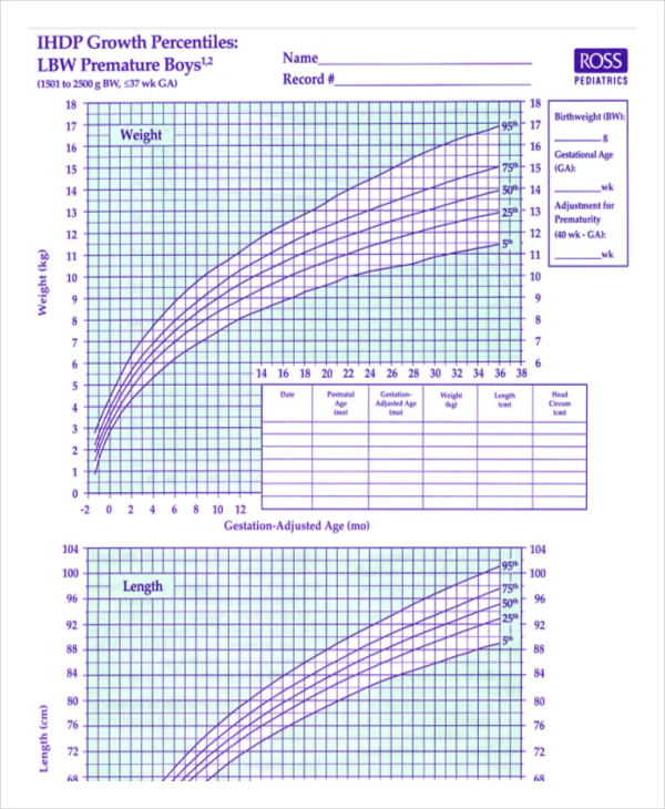 Preemie Baby Growth Chart amulette
