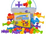 Easy Stikz Suction Toys 84 Pieces Silicone Rubber
