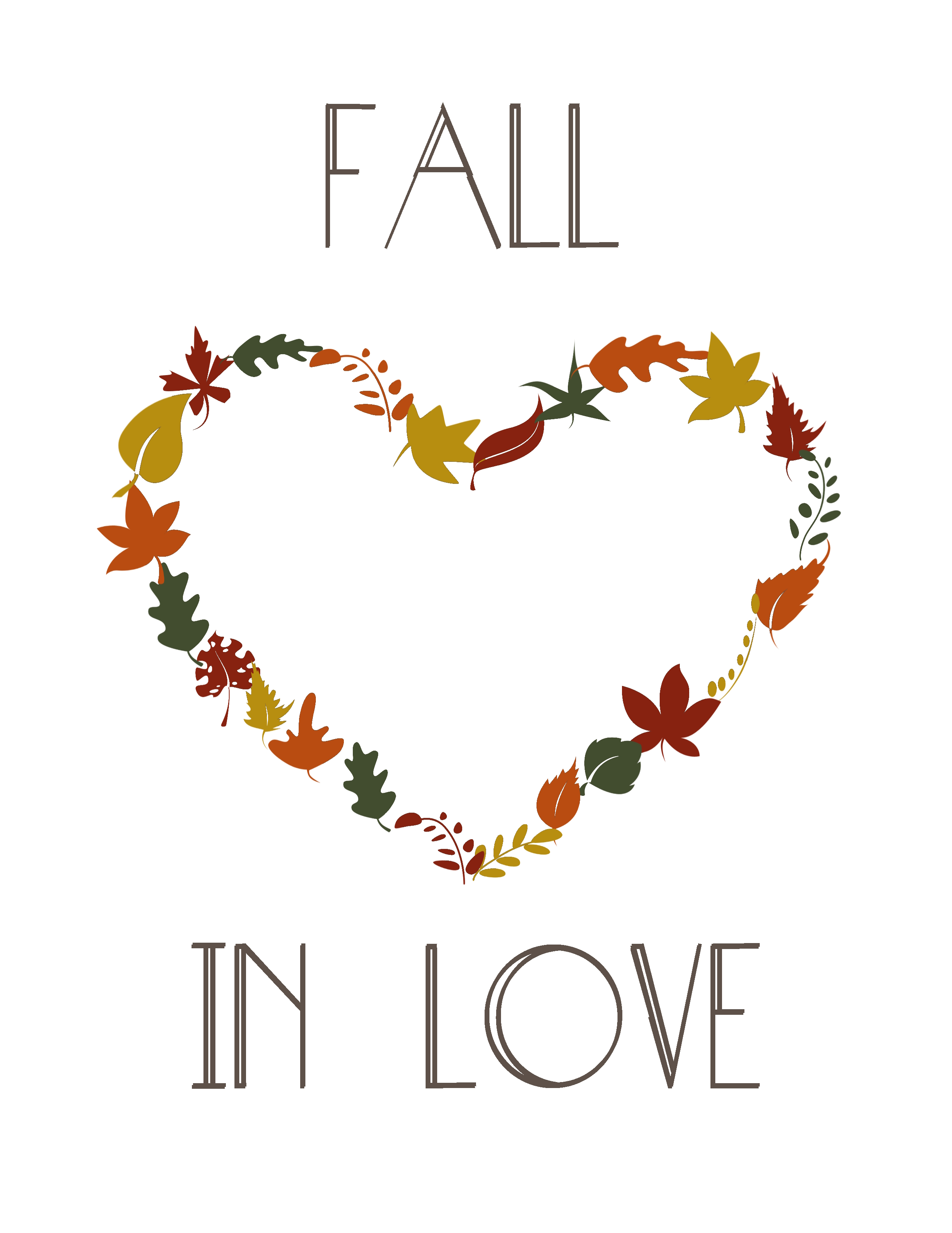 Falling In Love Fall In Love Free Printable Amy Allender Dot Com