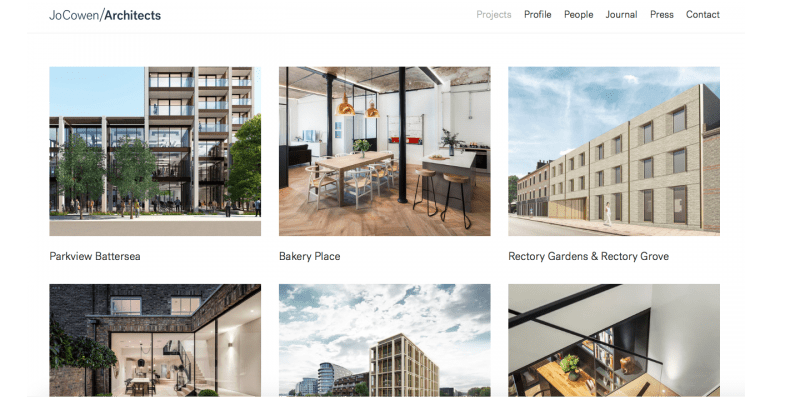 Jo Cowen architects web