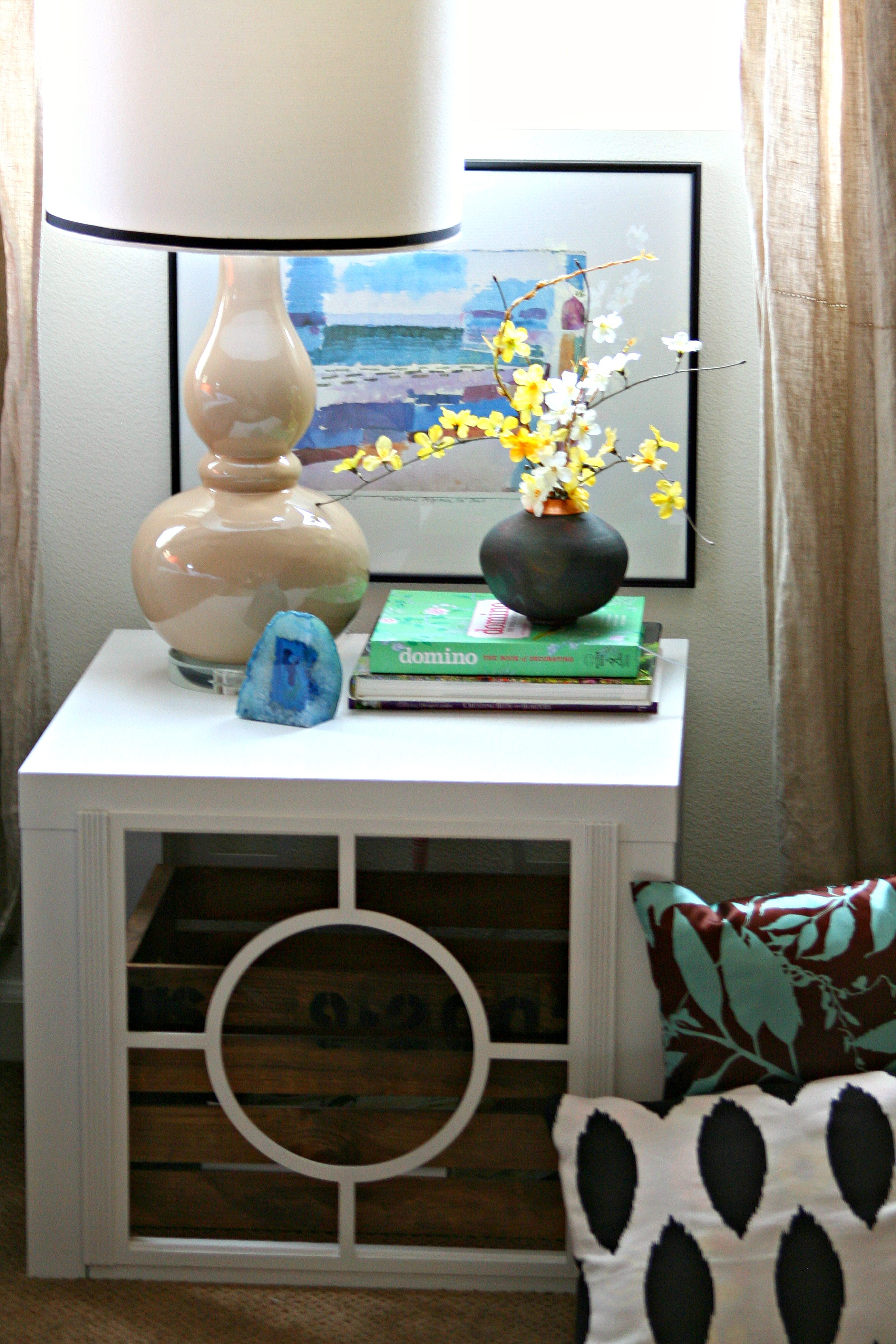 Ikea Expedit Chalk Paint Another Ikea Hack Embellishing A Lack Table Amy Krist Interiors