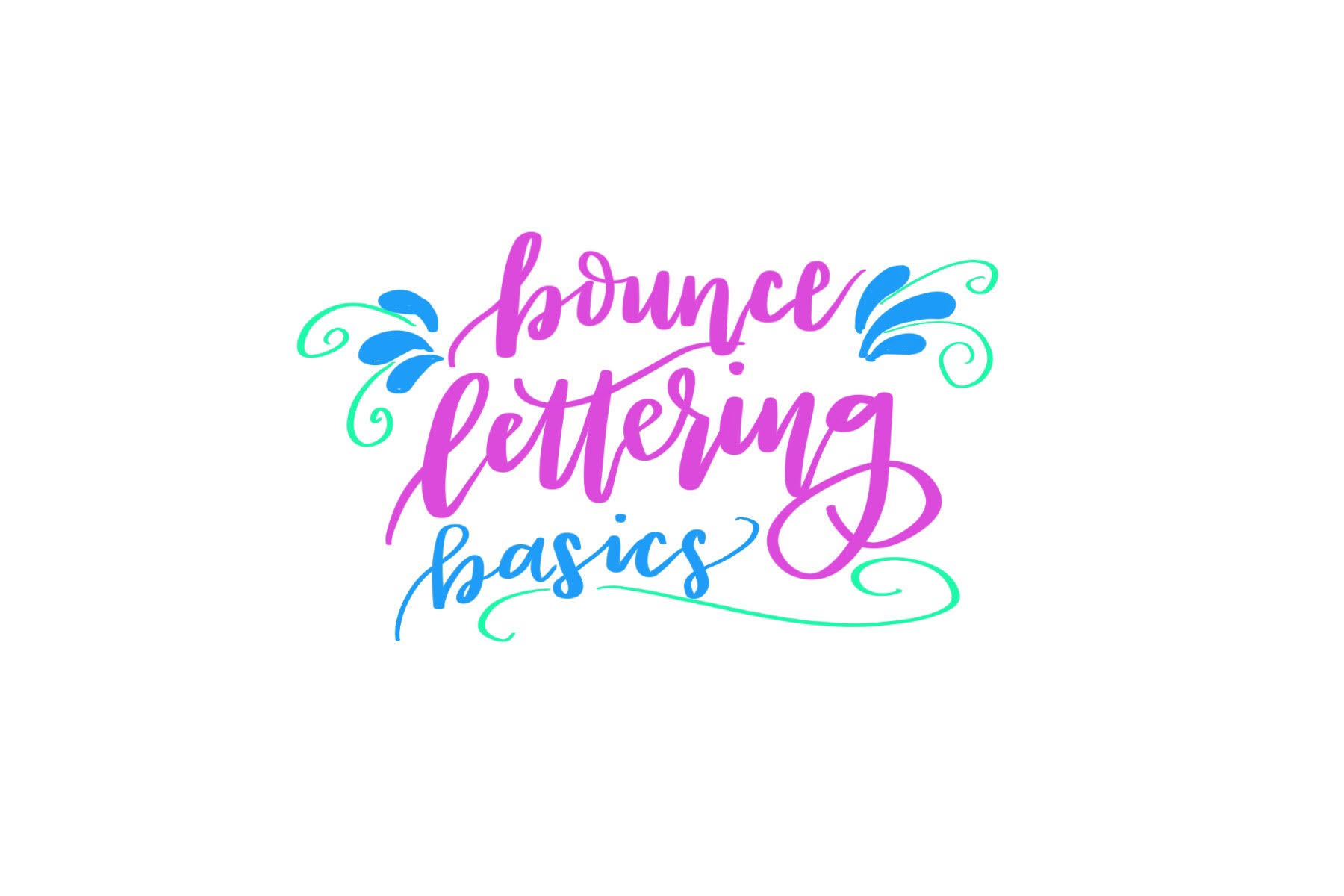 Fake Calligraphy M Basic Bounce Lettering Amy Latta Creations