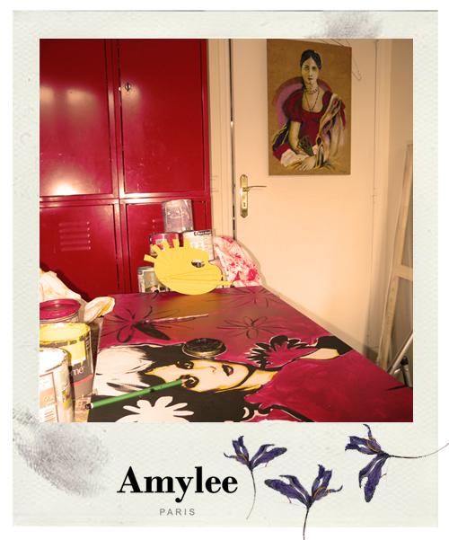 atelier d artiste peintre en plein boulot amylee. Black Bedroom Furniture Sets. Home Design Ideas