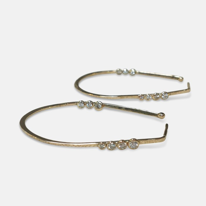 Amy Nordstrom - 14k Diamond Hoops
