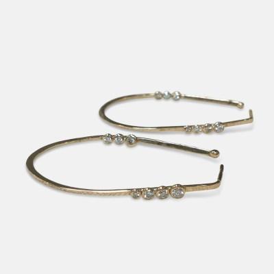 Amy Nordstrom - 14k Diamond Hoops