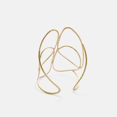 Gold Scarab Cuff