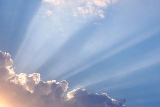 Beautiful sunlight through clouds
