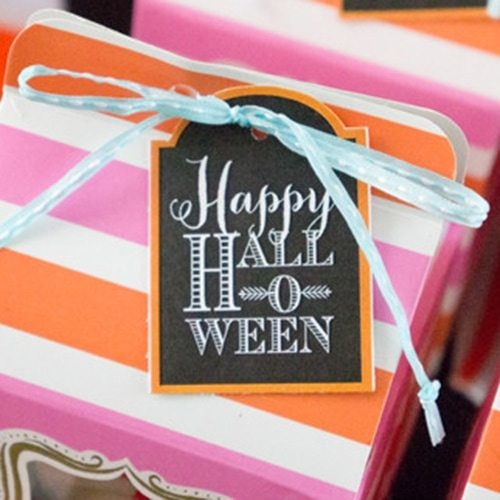 INSTANT DOWNLOAD Halloween Favor Tags - PRINTABLE Amy\u0027s Party Ideas