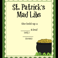 St. Patrick's Day Mad Libs