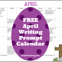 FREE April 2015 Writing Prompt Calendar