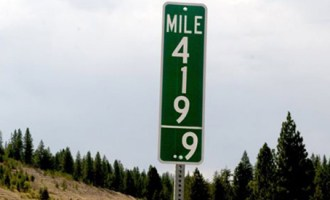Idaho-mile-marker