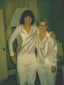 Sandy and Alan before concert 1981