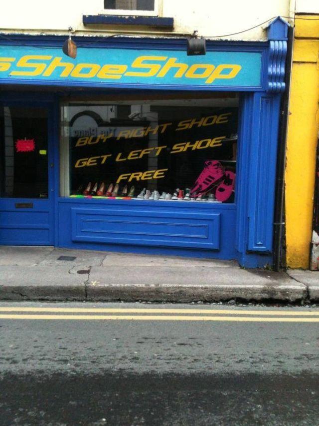 Shoe shop sign