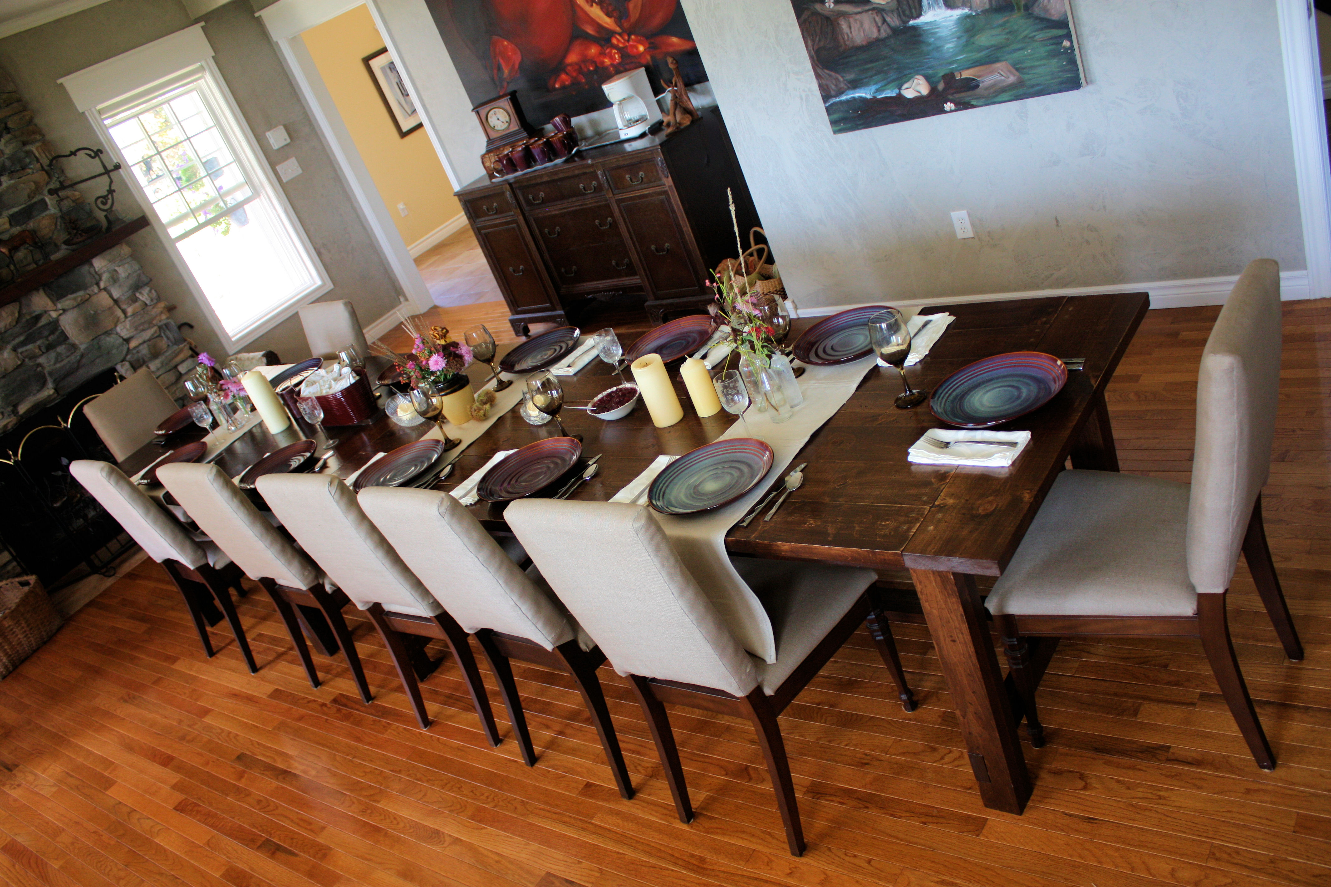 Building A Dining Room Table With Leaves Ana White Super Big Farmhouse Dining Table And Bench